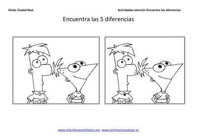 Dibujos Animados Encuentra Las Diferencias Y Colorea Para Niños