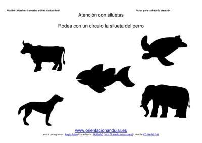 siluetas animales domesticos perro