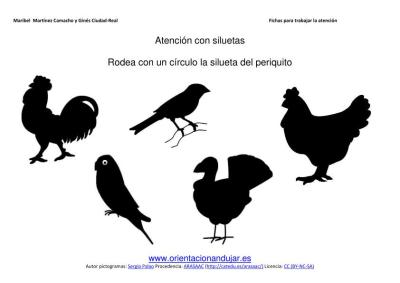 siluetas animales domesticos gallo