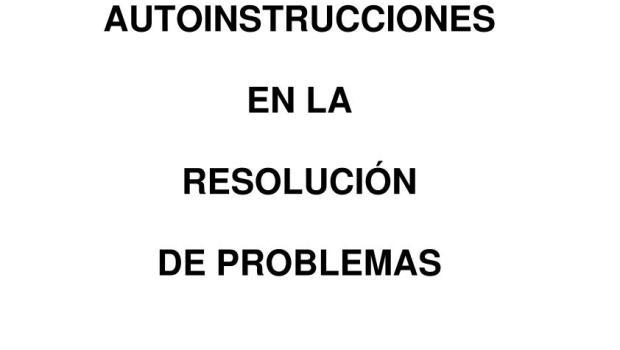 Entrenamiento en autoinstrucciones de problemas primaria 1