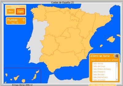 COSTAS de España COMO SE LLAMA