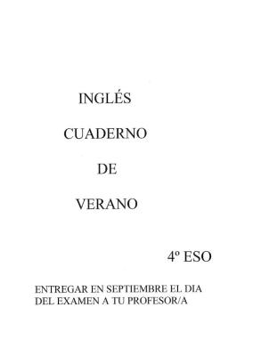 Cuaderno Verano 4ºESO IMAGEN