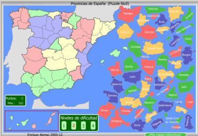 PROVINCIAS de España FACIL PUZZLE