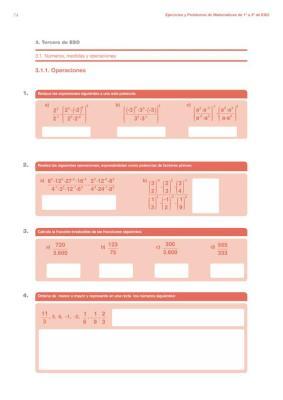 cuaderno de verano  matematicas 1 a 3 ESO imagen