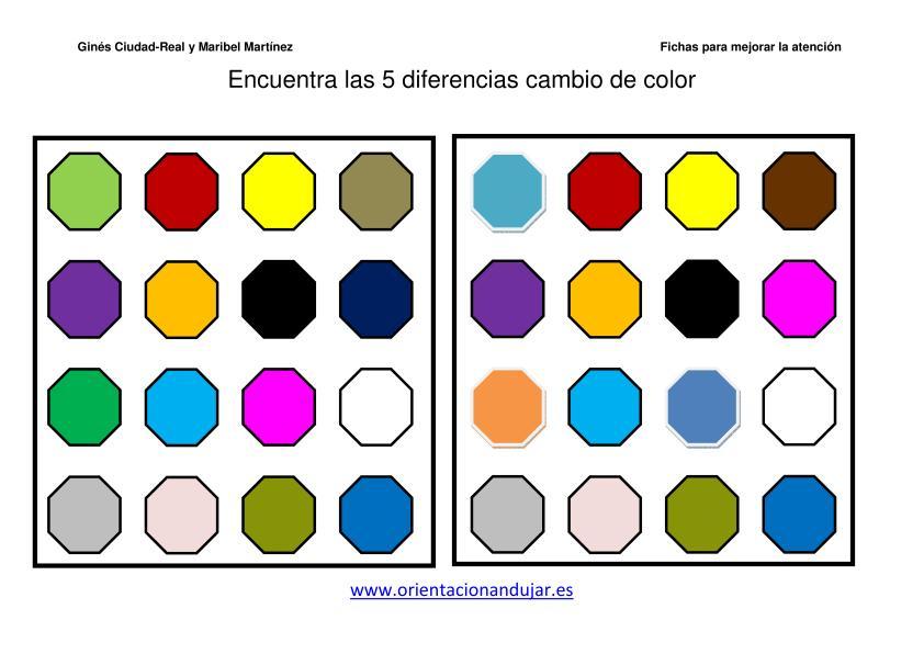 Encuentra las diferencias  colores
