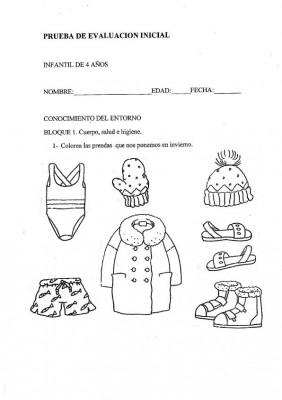 INICIAL INFANTIL 4 AÑOS CONOCIMIENTO ENTORNO
