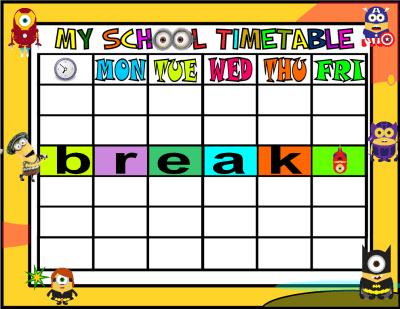 My School Timetable MINIOS