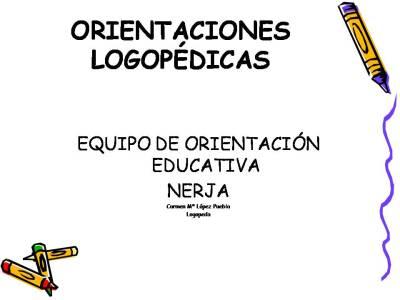 Programa de estimulación del lenguaje para alumnado de Educación Infantil. EOE NERJA
