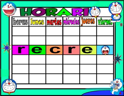horario 5 HORAS-1 doraemon