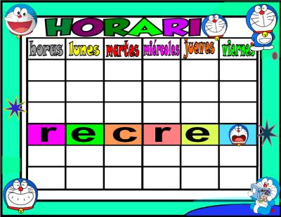 horario 5 HORAS-2 doraemon