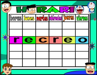 horario 5 HORAS-3 doraemon
