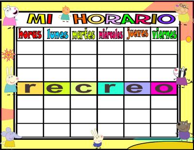 horario 6 HORAS-1 peppa pig y sus amigos