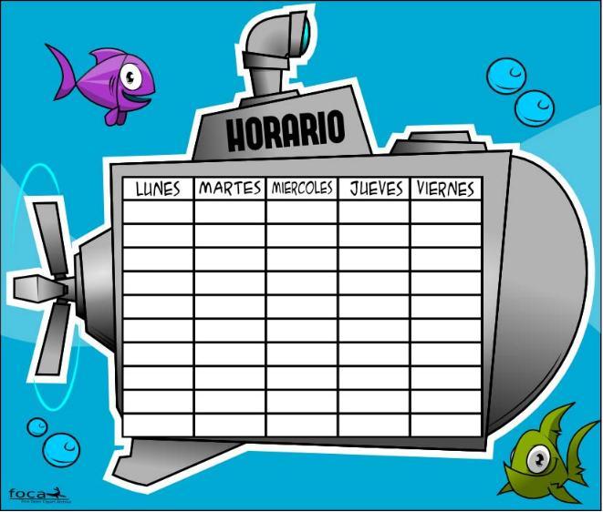 HORARIOS DIVERTIDOS FOCACLIPART