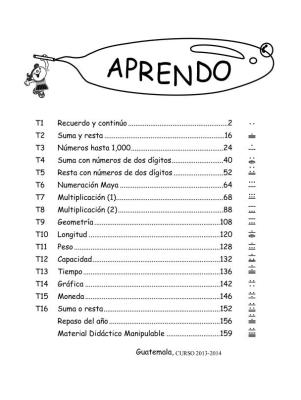 PORTADA CURSO 2 PRIMARIA MATEMATICAS 2013-2014