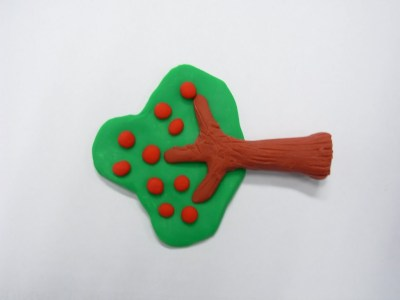 arbol de de plastilina