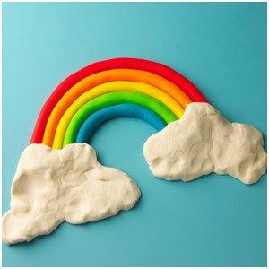 arcoiris de plastilina