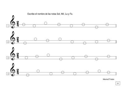 lenguaje musical las notas