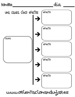 organizador grafico una causa cinco efectos imagen_1