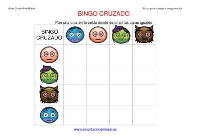 bingo cruzado halloween  matriz 4x4 IMAGEN 2