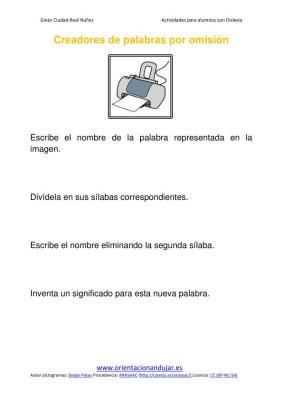 Ejercicios para niños con dislexia Omisión de sílabas imagenes_09