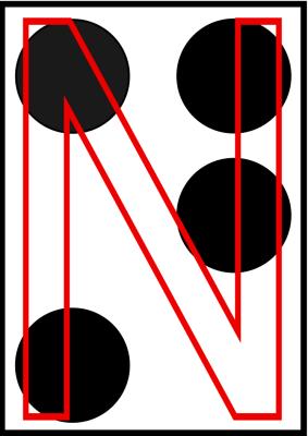 braille letra N