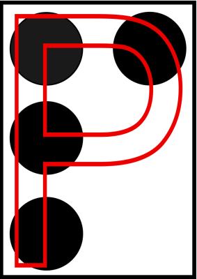 braille letra P