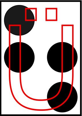 braille letra U dieresis
