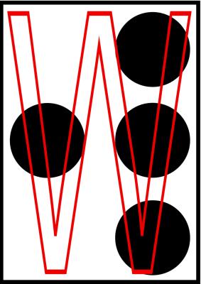 braille letra W