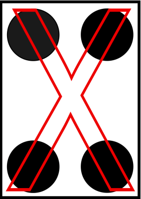 braille letra X