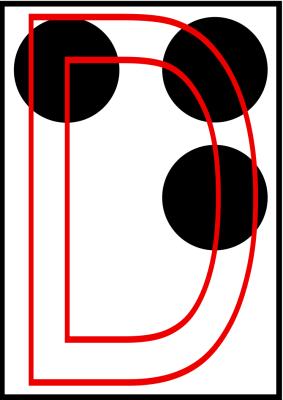 braille letra d