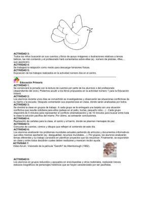 13 PROPUESTAS DIDACTICAS DÍA DE LA PAZ INFANTIL Y PRIMARIA IMAGEN 2