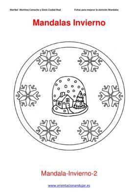 Mandalas para colorear en Invierno Orientacion andujar imagenes (2)