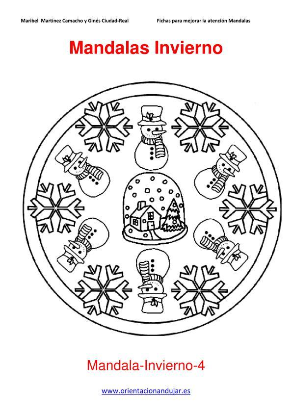 Mandalas para colorear en Invierno Orientacion andujar
