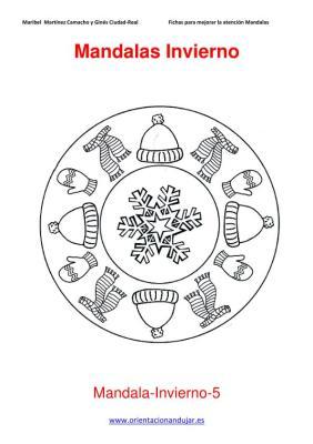 Mandalas para colorear en Invierno Orientacion andujar imagenes (5)