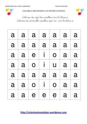 colorea las letras segun las instrucciones-1
