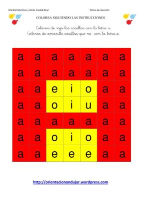 colorea las letras segun las instrucciones SOLUCION-1