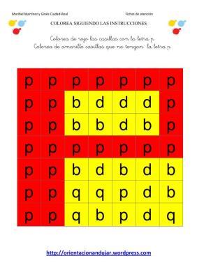 colorea las letras segun las instrucciones SOLUCION