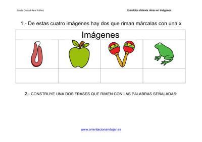 Actividades de rimas para alumnos con dislexia imagenes_5