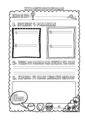 Organizador gráfico para trabajar palabras y frases en cooperativo IMAGEN 1