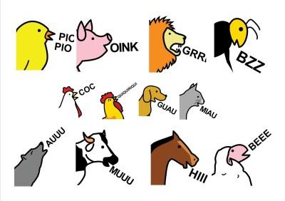 el sonido de los animales