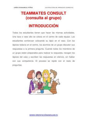 LAS ESTRUCTURAS DEL APRENDIZAJE COOPERATIVO TEAMMATES CONSULT 3