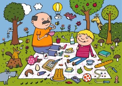 de picnic con papa