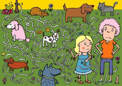 laberinto de mascotas
