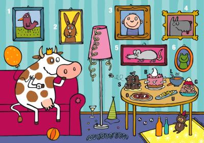 numeros y letras en el salon de la vaca