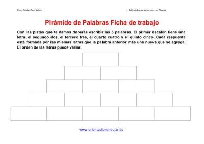 piramide de palabras o letras ficha de trabajo 1  imagen 1