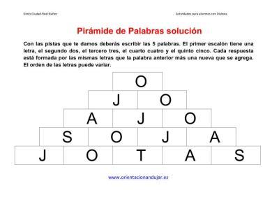 piramide de palabras o letras ficha de trabajo 1  imagen 3 solucion