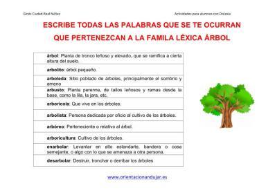 Lectoescritura FAMILIAS LÉXICAS altas capacidades 1 IMAGENES_2