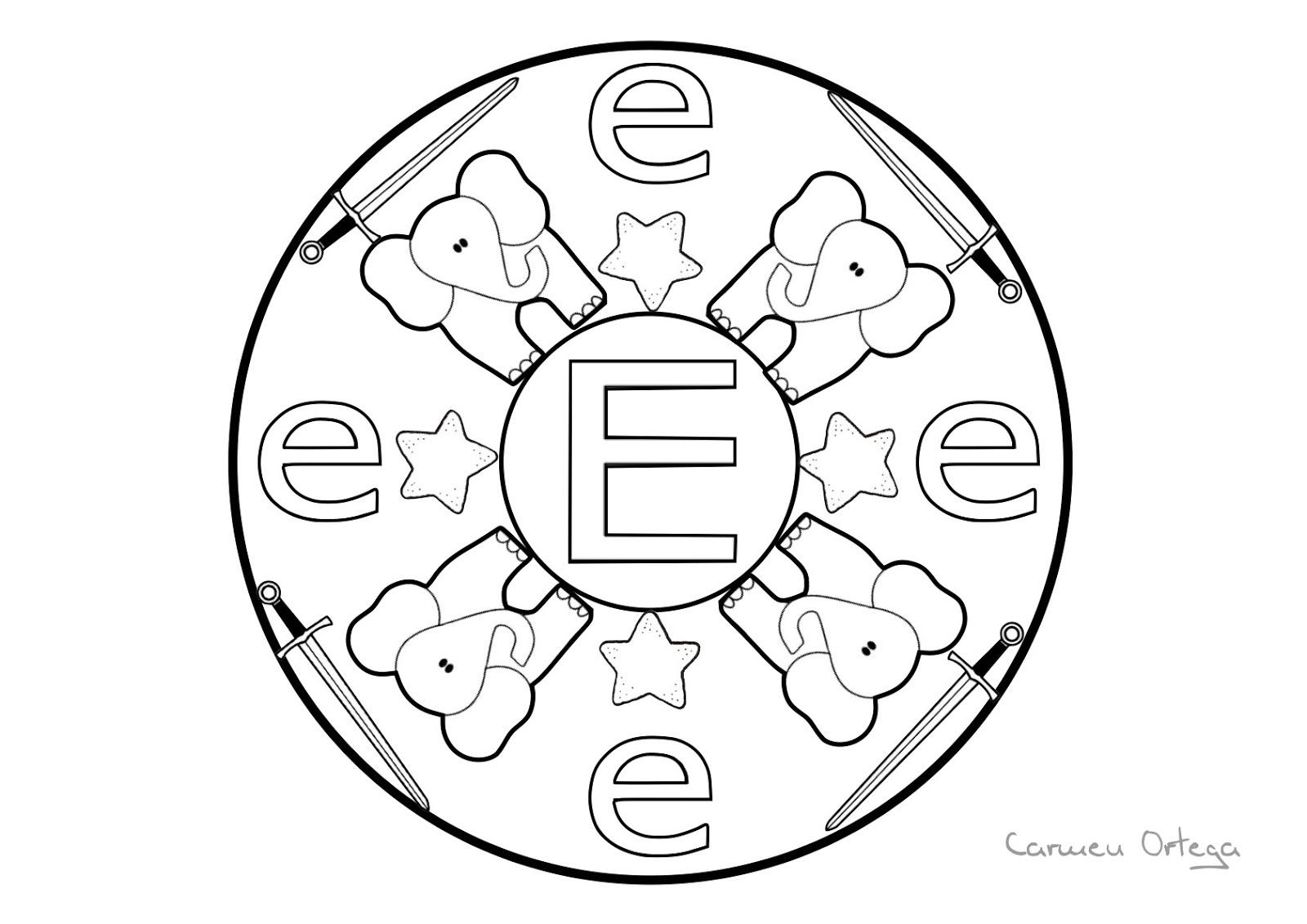 Mandalas con las letras del abecedario orientacion andujar for Mandalas ninos