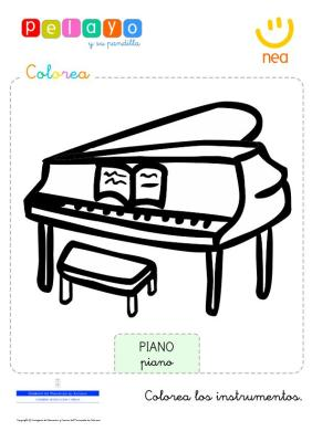 colorea los instrumentos musicales en  imagenes_1