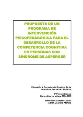 programa intervención pedagogica Asperger
